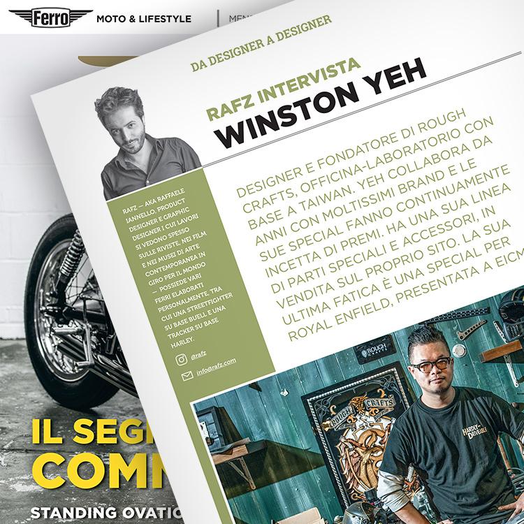 Ferro 39, Winston Yeh